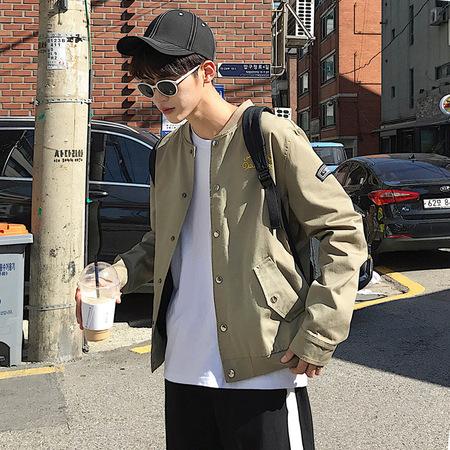 2017秋季夹克男士韩版潮流修身款简约百搭帅气棒球服男装外套上衣